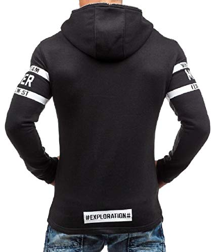 Plus Sweatshirt Men Howme up Autumn Black Size Fit Juniors' Hoode Zip Slim vTT8wqH