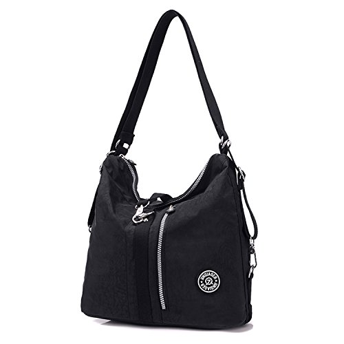 Nylon for Shoulder Bag Travel Crossbody Women Messenger Sport Body Backpack Black Bag Bag Outreo Cross Casual Daypack Girls Handbag Satchel Uq4B5zwp