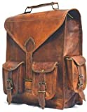 Cheap GOATSTUFF LEATHER HANDMADE VINTAGE STYLE 2 IN 1 BACKPACK/ COLLAGE/ TRAVEL/ MESSENGER