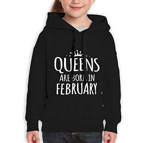 Price comparison product image Vintopia Girl Queen Are Born In February Leisure Hiking Black Fleece XL
