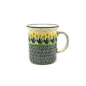 Polish Pottery Mug – Big Straight Sided – Daffodil