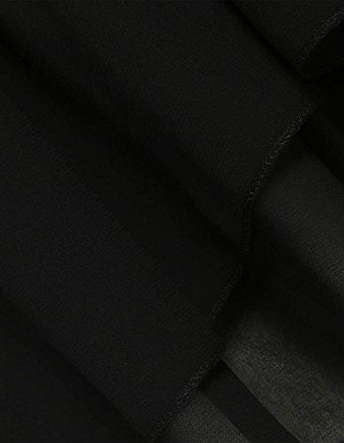 Damen Blusen Tops Chiffon Patchwork Tuniken Sweatshirt