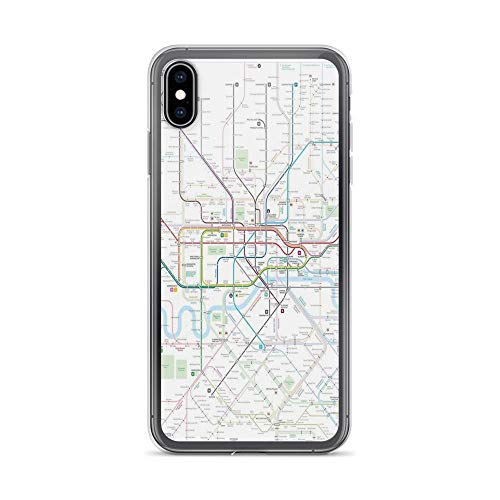 iPhone Xs Max Case Clear Anti-Scratch London map Cover Phone Cases for iPhone Xs Max, Crystal Clear -