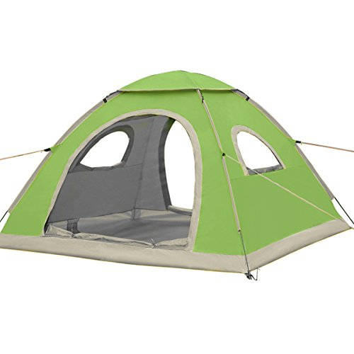 G4Free Pop Up Tent Instant Camping Tents 2 3 4 Person Water Resistant Ventilation Automatic Easy Setup Beach Sun Shelter with ANTI-UV Coating UPF 50+ For Backpacking Hiking Beach(GREEN)