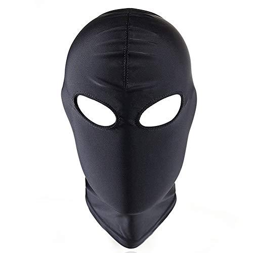 Leather Mask Head Harnes Unisex Hood Mask Goth Halloween Costume Fetish