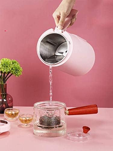 Mini Sojamelk Maker Verwarmde Soja-melk Juicer Blender Silent Wall-breaking sojamelk Machine There Is A Steamer (roze) FDWFN
