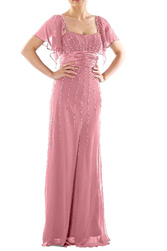 the maniche MACloth of Mother wedding party Long Dress Women abito Pink Blush Bride formale xnX1crqXgW
