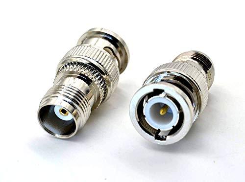 2pcs TNC-Female-Jack to BNC-Male-Plug High Value Pure Copper RF Coax Adapter