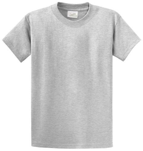 Joe's USA TM - Youth Heavyweight Cotton Short Sleeve T-Shirt In Size L (Grey Youth T-shirt)