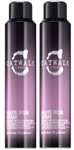 TIGI CATWALK HAUTE IRON SPRAY FOR HEAT PROTECTION AND SHINE 200ML X 2