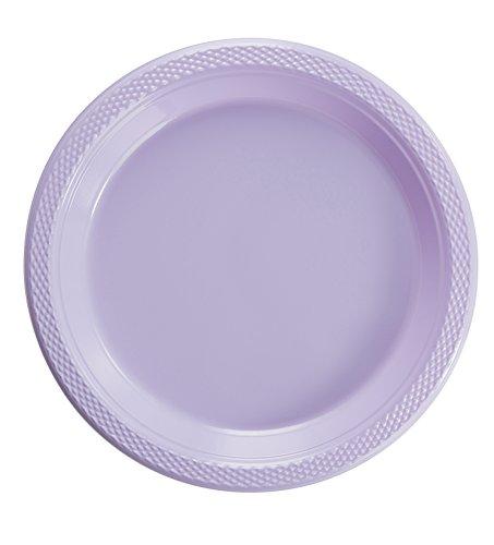 - Exquisite Plastic Dessert/Salad Plates - Solid Color Disposable Plates - 100 Count (7 Inch, Lavender)