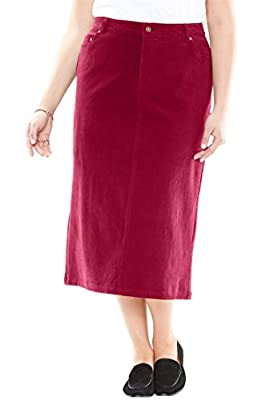 Woman Within Plus Size Corduroy Skirt