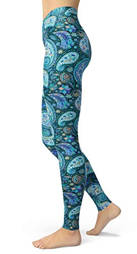 - Paisley Leggings for Women Vintage Printed Brushed Buttery Soft Tights (Vintage Paisley, Plus Size(L-2XL/Size 12-24))