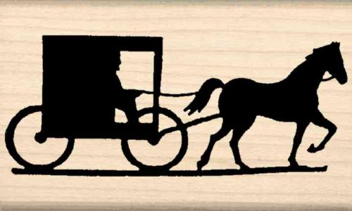 Stamps by Impression Amish Horse & Buggy Rubber Stamp