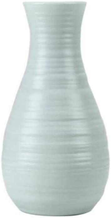Gcclcx Canasta de Flores de Estilo nórdico Florero de Flores Origami Florero de plástico Mini Botella Imitación Cerámica Maceta decoración hogar