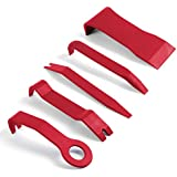 Panel Removal Tool 5 pcs - Premium Auto Trim Upholstery Removal Kit - Easiest to Use Fastener Remover for Door Trim Molding Dash Panel - The Last Pry Bar Scraper You Will Ever Buy