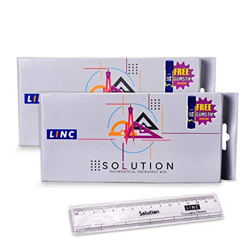 Linc Solution Mathematical Geometry Box - Pack of 2 (Grey)