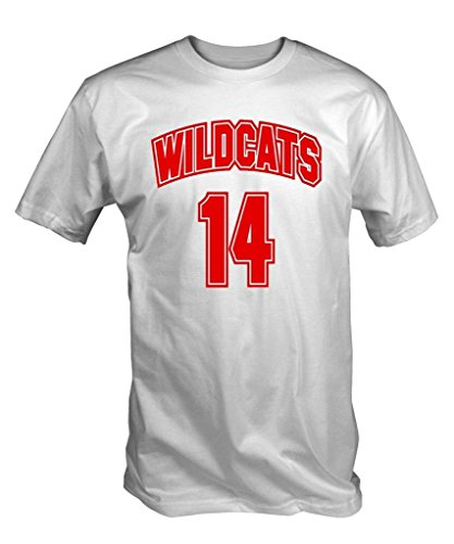 6 Tee Niners Men's Wildcats 14 T-Shirt Large Large (Gabriella High School Musical)