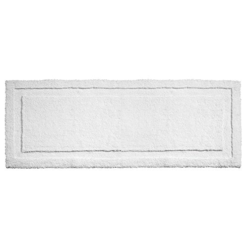 InterDesign Microfiber Spa Bathroom Shower and Tub Accent Rug, 60 x 21, (Chenille Accent Rug)