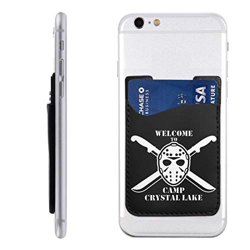- Welcome to Camp Crystal Lake Silicone 3M Adhesive Stick-on ID Credit Card Wallet Phone Case Pouch Sleeve Pocket