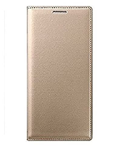 sale retailer df87e 9332f CELZO Leather Flip Cover Case for Samsung Galaxy J7 Nxt - (Gold)