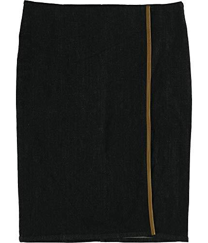LAUREN RALPH LAUREN Womens Denim Front Slit Pencil Skirt Navy 6 -