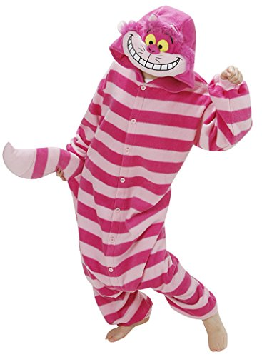 Gillbro Anime Adult Animal Cosplay Costume Pajamas,Cheshire Cat,L (Sexy Pokemon Costumes)