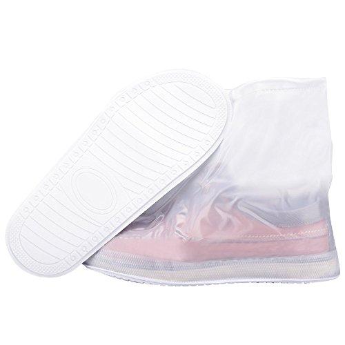 35 Épaissie et chaussures à vent à avec Couvre Eu Jour Imperméable Soumit Réutilisable de Pluie Glissière Coupe poussière Résistant 36 Fermeture l'usure pour Housse Chaussure Anti de 5tSwp1q