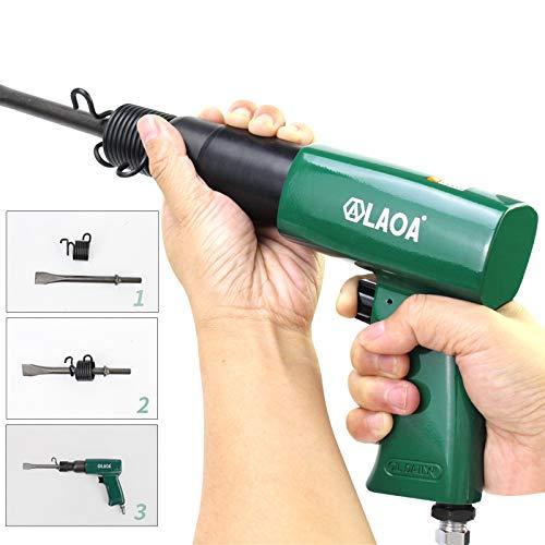 LAOA 6CFM Pneumatic Chipping Hammers Handheld Air Hammer Wind/Gas Shovels for Vehicle Repairing Bridge Construction Air Draft