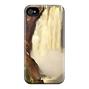 New Gjhaezc3597kjJaI Yellowstone Waterfall Skin Case Cover Shatterproof Case For Iphone 4/4s