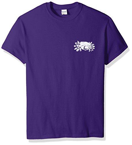 New World Graphics NCAA Kansas State Want to Yell Short Sleeve Shirt, Small, Purple -