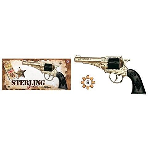 Jouet Pistolet Revolver Sterling gold + Amorce 8 Coups 17cm Catégorie F1 - 573