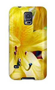 Premium Yellow Flowers Back Cover Snap On Case For Galaxy S5