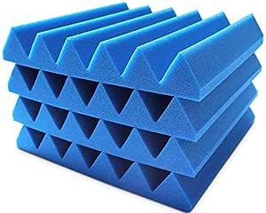 4 عبوات من ألواح الفوم الصوتية، عازلة للصوت، لوحات امتصاص الصوت للجدران