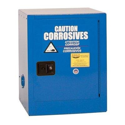 """Eagle CRA-1904 Safety Cabinet for Corrosive Liquids, 1 Door Manual Close, 4 gallon, 22-1/2""""Height, 17-1/2""""Width, 18""""Depth, Steel, Blue"""