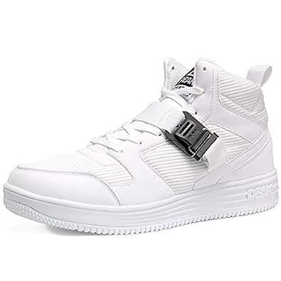 PEAK Casual Sport Shoes for Men Hight-top Breathable Mesh Non-Slip Culture Shoes White