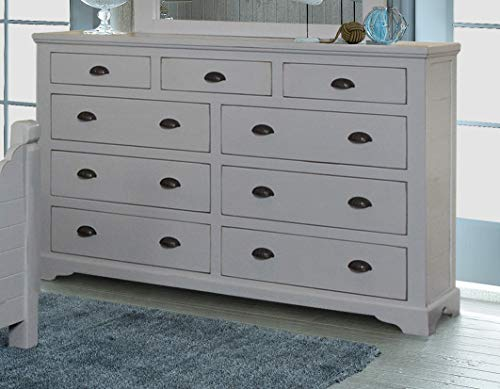 Sunset Trading HH-4270-310 Coastal Charm Dresser, Passion Gray