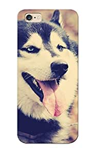 Quality Rightcorner Case Cover With Animals Dogs Husky Nice Appearance Compatible With Iphone 6 Plus()