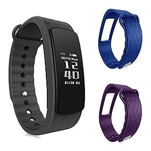 OuiVallée Bracelet connecté MyPulse – Marque Française – Capteur Cardiaque Podomètre Sommeil Bluetooth 4.0 – Tracker Activité Physique
