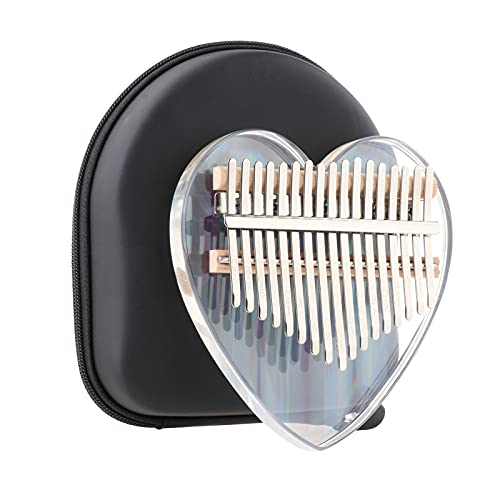 Kalimba Thumb Piano 17 Keys, Rainbow Clear Portable Mbira Finger Piano with Protective Box, Portable Finger Piano Musical Instrument for Kids Adult Beginners Professional
