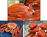 Alaskan Seafood Sampler (Giant King Crab, Wild Alaskan King Salmon Fillets & Lox)