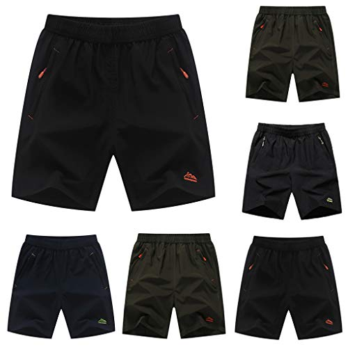 90fd436f33 wodceeke Summer Mens Shorts Swim Trunks Quick Dry Surfing Running Swimming  Pants Loose Beach Trouse (