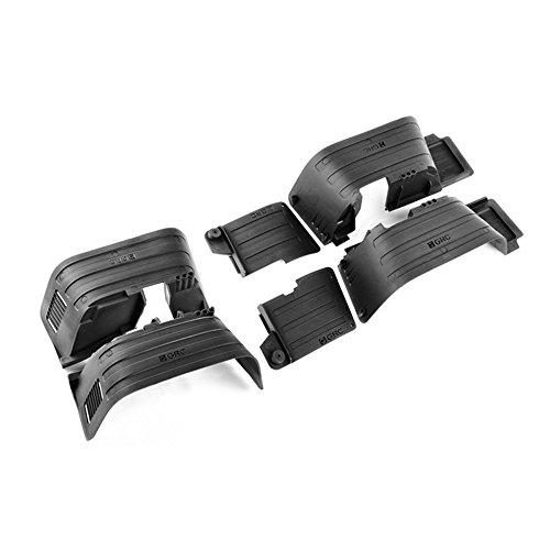 INJORA フロント&リアマッドフラップフェンダー 1/10 RCクローラーアキシャル用SCX10 II 90046 90047プラスチック、黒