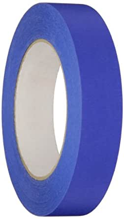 "Nashua Crepe Paper Premium 14-Day Painter's Masking Tape, 3"" Core, 5.3 mil Thick, 55 m Length, 24 mm Width, Blue"