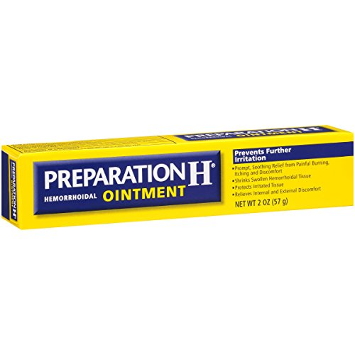 Preparation H Hemorrhoid Symptom Treatment Ointment, Itching, Burning and Discomfort Relief, Tube (2.0 Ounce), (Pack of 2)