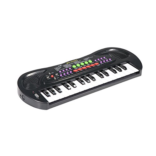 aPerfectLife Kids Piano, 32 Keys Multifunction Electronic Kids Keyboard Piano Music Instrument for Toddler with Microphone (Black)
