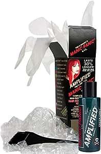 Manic Panic Green Envy Amplified Hair Coloring Kit, Vegan Semi-Permanent  Green Hair Dye Cream -