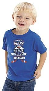 NHL Edmonton Oilers Kids Tee, 2 Tall, Royal