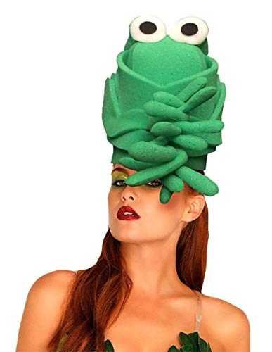 Funky Fresh Green Toad Adult Foam Costume Hat - One Size -
