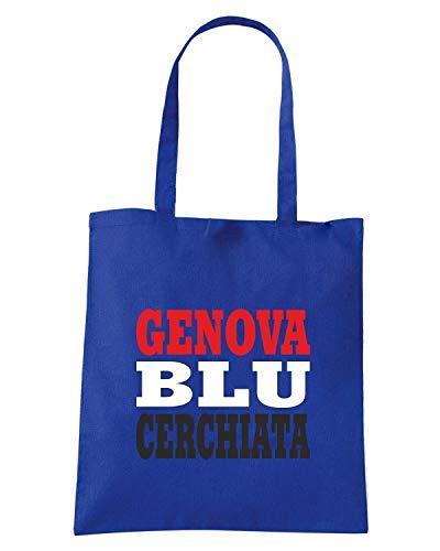 Borsa Shopper Royal Blu WC1005 SAMPDORIA ITALIA CITTA STEMMA LOGO